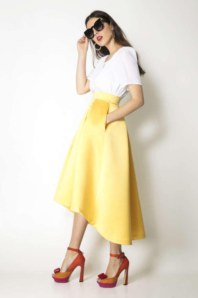 falda midi lat