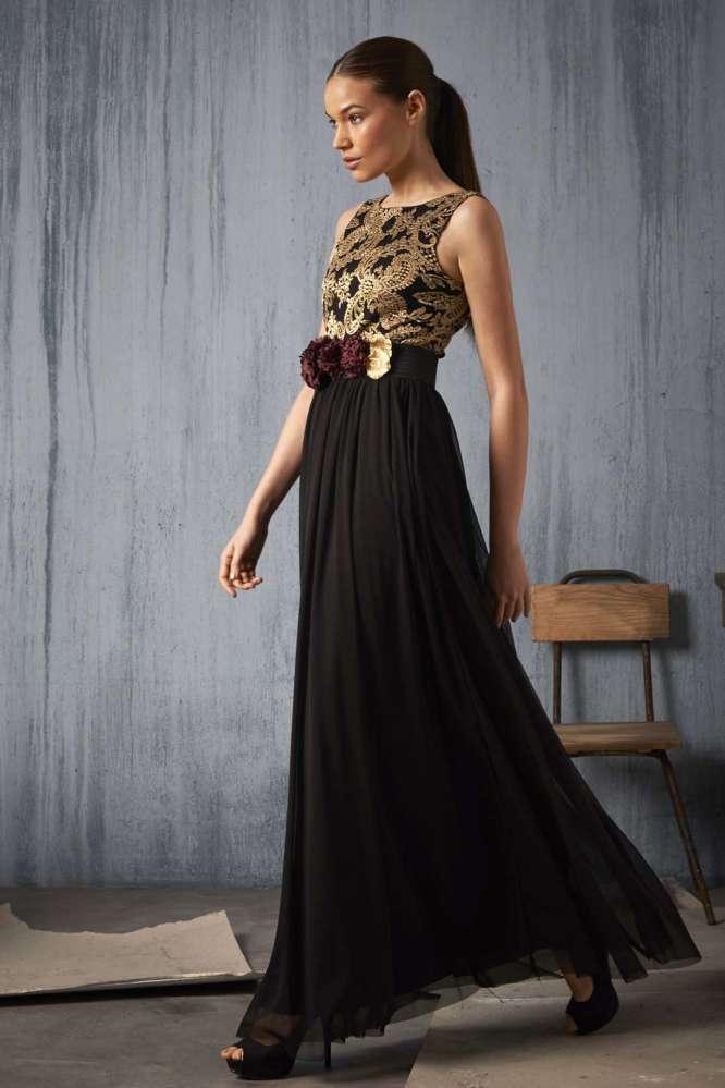 Vestido Valentina Negro Maru Atelier